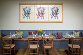 photo of the dining area in The Cliffe at Dinham, Ludlow