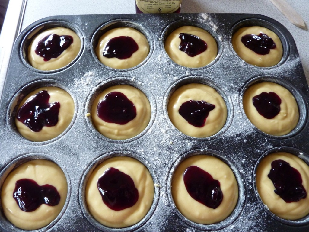 Damson Muffins Nearly Ready for the Oven