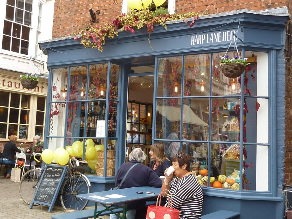 photo showing the exterior of Harp Lane Deli in Ludlow