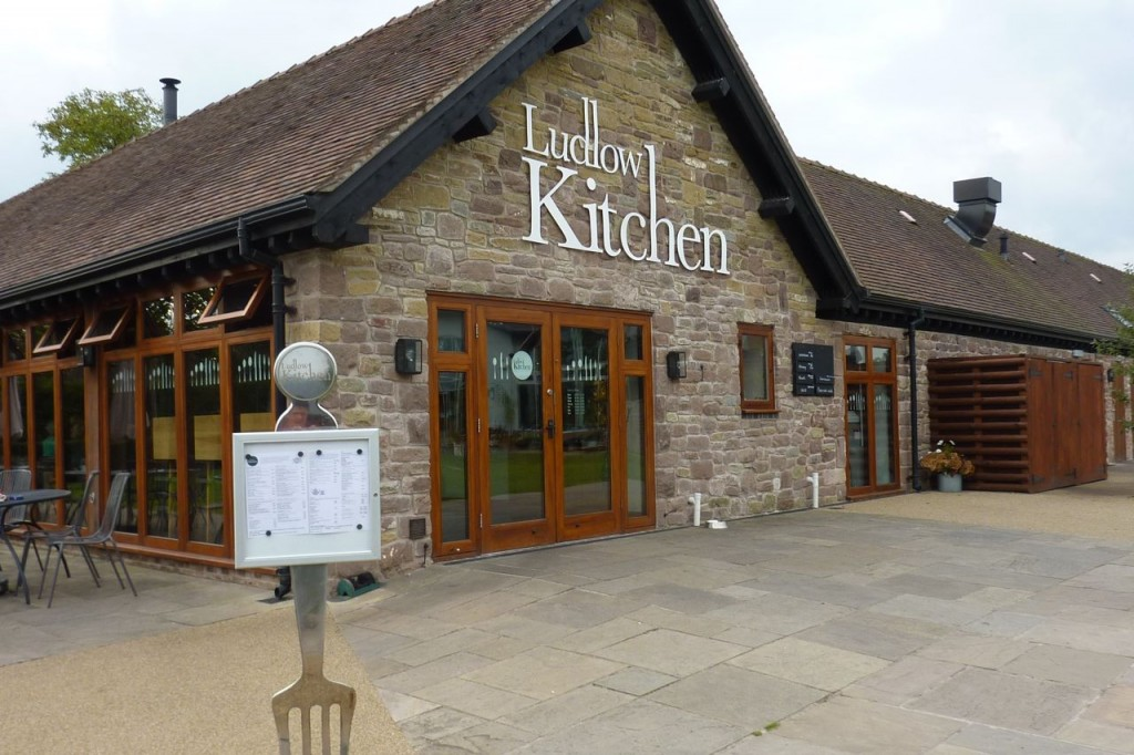photo showing the outside of the Ludlow Kitchen in Shropshire