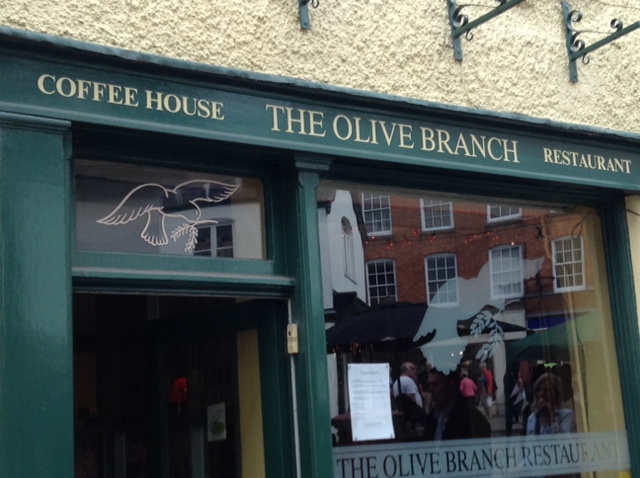 the front of The Olive Branch in Ludlow