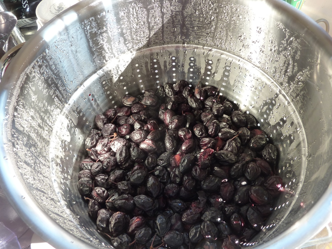 (Not Really) Spent Damsons in the Steamer Juicer